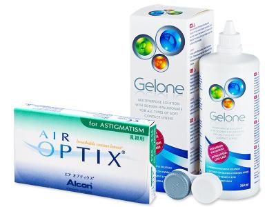 Air Optix for Astigmatism (6 soczewek) +płyn Gelone 360ml