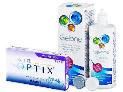 Air Optix Aqua Multifocal (6 soczewek) + płyn Gelone 360 ml