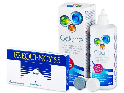 Frequency 55 (6 soczewek) +płyn Gelone360ml