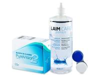 PureVision 2 (6 soczewek) +płyn Laim-Care400ml