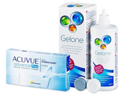 Acuvue Advance PLUS (6soczewek) +płyn Gelone360ml