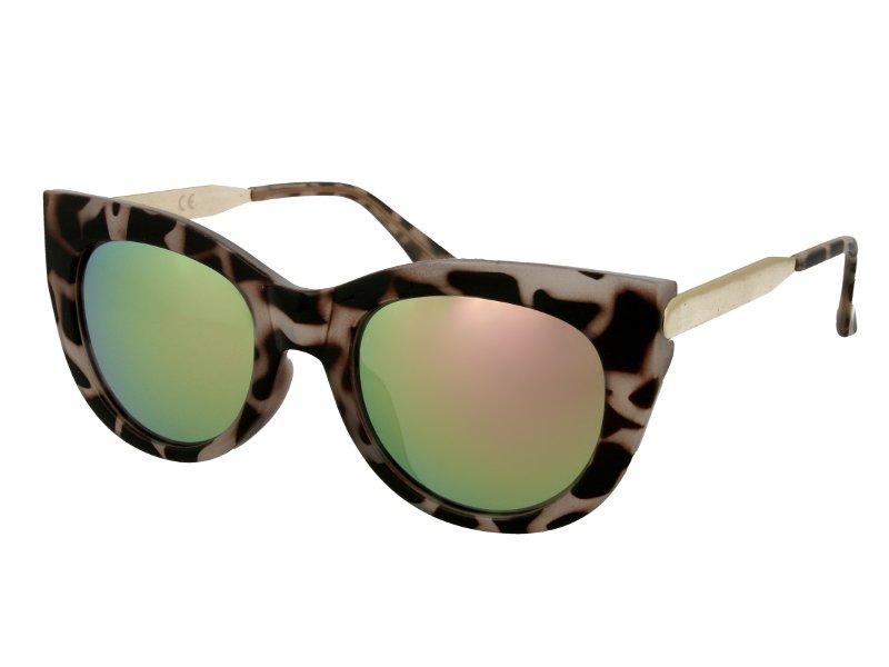 Okulary przeciwsłoneczne Alensa Cat Eye Havana Pink Mirror