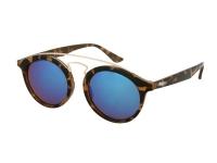 alensa.pl - Soczewki kontaktowe - Dziecięce okulary przeciwsłoneczne Alensa Panto Havana Blue Mirror