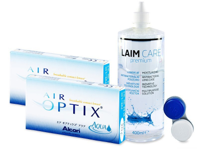 Air Optix Aqua (2x3 soczewki) + płyn Laim-Care (400ml)