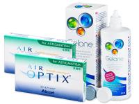 Air Optix for Astigmatism (2x3soczewki) +płyn Gelone 360ml