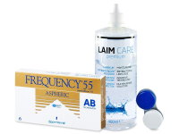 Frequency 55 Aspheric (6 szt) + płyn Laim-Care 400ml