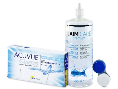 Acuvue Oasys for Astigmatism (6 soczewek) + płyn Laim-Care (400ml)