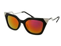 alensa.pl - Soczewki kontaktowe - Okulary przeciwsłoneczne Alensa Cat Eye Shiny Black Mirror