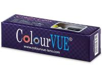 ColourVUE Crazy Lens - WhiteOut - zerówki (2 soczewki)