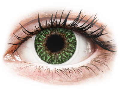 TopVue Color - Green - zerówki (2 soczewki)