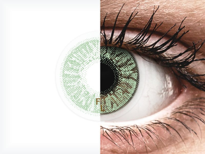 FreshLook Colors Green  - zerówki (2 soczewki)