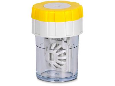 Obrotowy pojemnik na soczewki - żółty