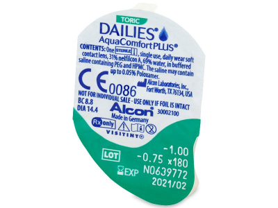 Dailies AquaComfort Plus Toric (30soczewek)