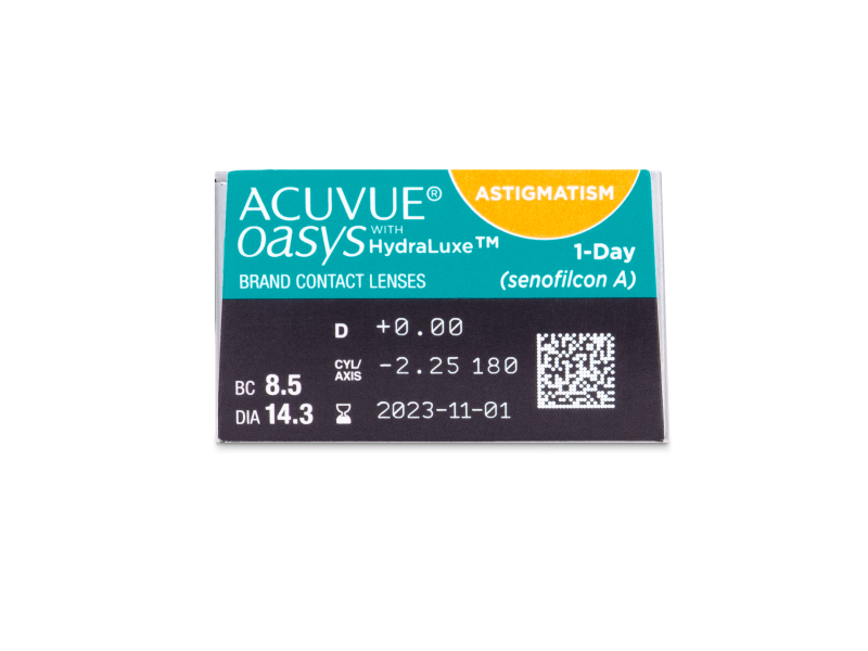 Acuvue Oasys 1-Day with HydraLuxe for Astigmatism (30 soczewek)