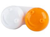 alensa.pl - Soczewki kontaktowe - Pojemnik na soczewki 3D - pomarańczowy