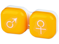 Pojemnik na soczewki man&woman - zółty