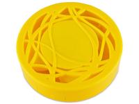 Pudełko na soczewki z lusterkiem - żółty ornament