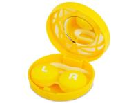 alensa.pl - Soczewki kontaktowe - Pudełko na soczewki z lusterkiem - żółty ornament