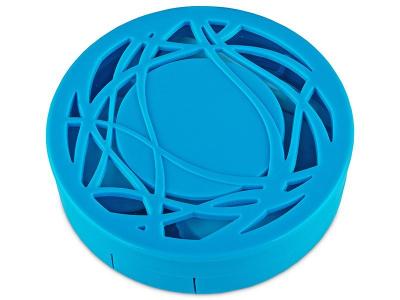 Pudełko na soczewki z lusterkiem - niebieski oranament