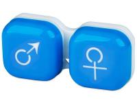 Pojemnik na soczewki man&woman - niebieski