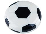 alensa.pl - Soczewki kontaktowe - Pudełko na soczewki z lusterkiem Football - czarne