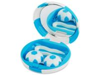 alensa.pl - Soczewki kontaktowe - Pudełko na soczewki z lusterkiem Football - niebieskie