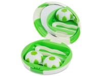 alensa.pl - Soczewki kontaktowe - Pudełko na soczewki z lusterkiem Football - zielone