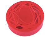alensa.pl - Soczewki kontaktowe - Pudełko na soczewki z lusterkiem - czerwony ornament
