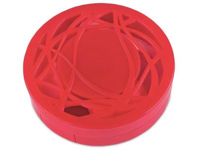 Pudełko na soczewki z lusterkiem - czerwony ornament