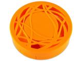 alensa.pl - Soczewki kontaktowe - Pudełko na soczewki z lusterkiem - pomarańczowy oranament