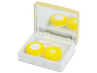 alensa.pl - Soczewki kontaktowe - Pudełko na soczewki z lusterkiem Elegant - złote