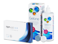 TopVue Air (6 soczewek) + płyn Gelone 360 ml