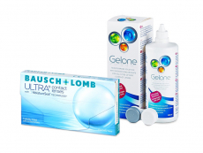 Bausch + Lomb ULTRA (3 soczewki) + płyn Gelone 360 ml