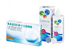 Bausch + Lomb ULTRA for Astigmatism (6 soczewek) + płyn Gelone 360 ml