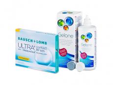 Bausch + Lomb ULTRA for Presbyopia (3 soczewki) + płyn Gelone 360 ml