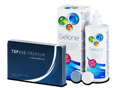TopVue Premium (6 soczewek) + płyn Gelone 360 ml
