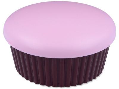 Pojemnik na soczewki w kształcie Muffinki - różowy