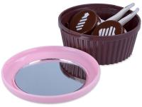 alensa.pl - Soczewki kontaktowe - Pojemnik na soczewki w kształcie Muffinki - różowy