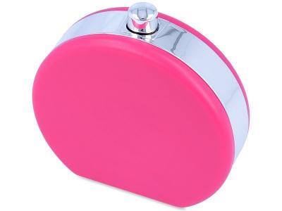 Pojemnik na soczewki w kształcie flakonu - różowy
