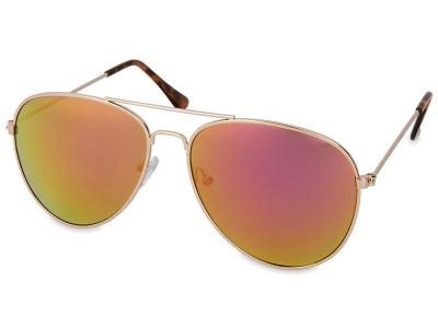 Okulary Gold Pilot - Różowe/Pomarańczowe