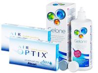 Air Optix Aqua (2x3soczewki) + płyn Gelone (360ml)